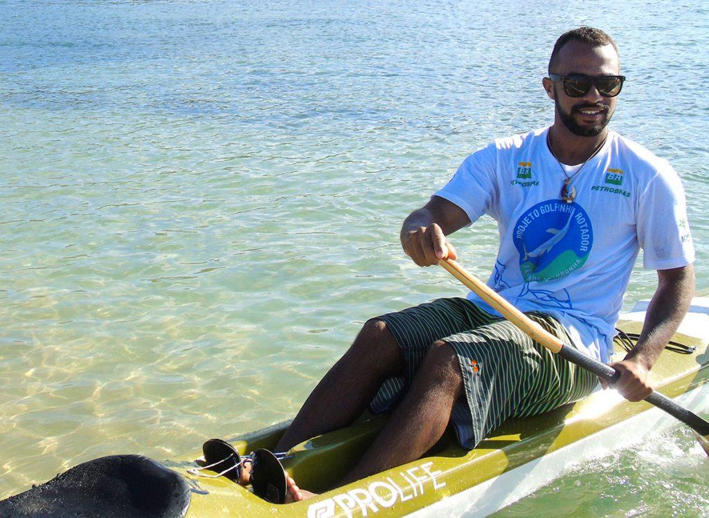 Alef Alves tem o apoio do Projeto Golfinho Rotador (Foto: Divulgação PGR)