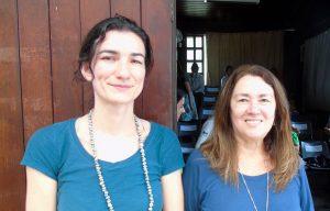 As palestrantes Andréa de Lima e Maria Christina abordaram, principalmente,a questão do lixo marinho